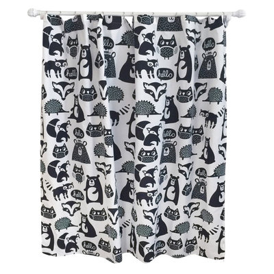 Forest Friends Shower Curtain Ebony Opaque - Pillowfort