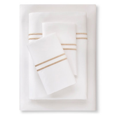 Supima Satin-Stitch Hotel Sheet Set 300 Thread Count (Full) Sea Salt (Blue) - Fieldcrest