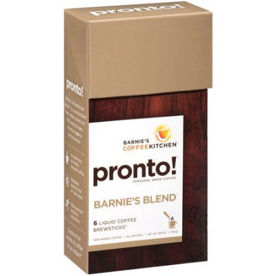 Barney's Coffee Kitchen Pronto! Personal Brew Coffee Barnie's Blend - 6 Packets