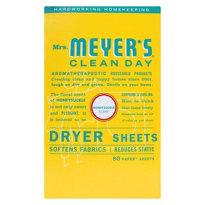 Mrs. Meyer's Dryer Sheets Honeysuckle - 80 ct