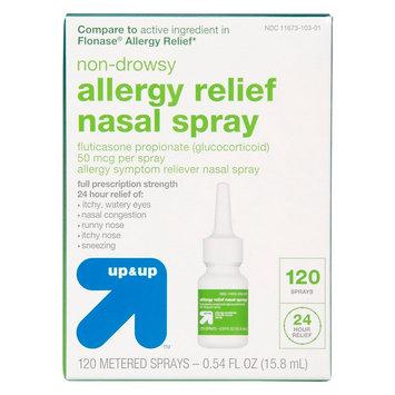 Non-Drowsy Fluticasone Propionate (Glucocorticoid) Allergy Relief Nasal Spray - (Compare to Flonase Allergy Relief) - 0.54 fl oz - up & up