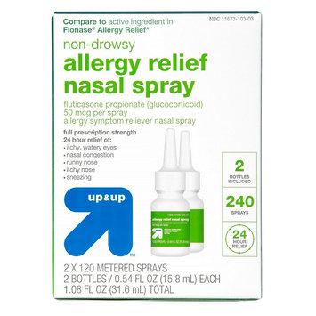 Fluticasone Propionate Allergy Relief Nasal Spray - 1.08 oz - up & up