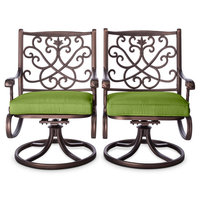 Patio Dining Chair: Threshold Folwell Cast Aluminum Swivel Dining Chairs (2pk)-Green, Green