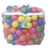 Click N' Play Pack of 100 Crush Proof Plastic Pit Balls in Reusable Mesh Bag with Zipper
