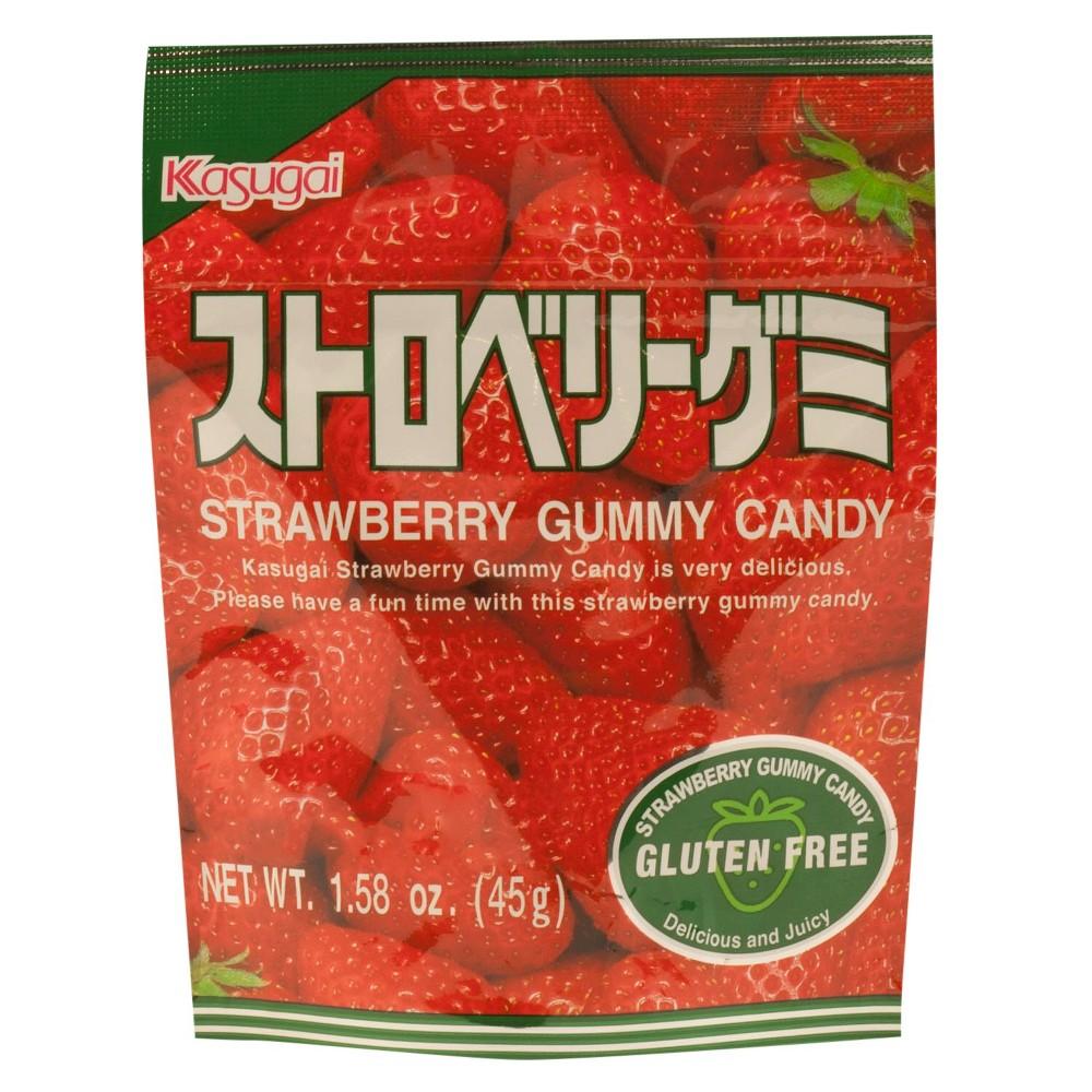 KASUGAI 127448 1.76 oz. Strawberry Gummy Candy