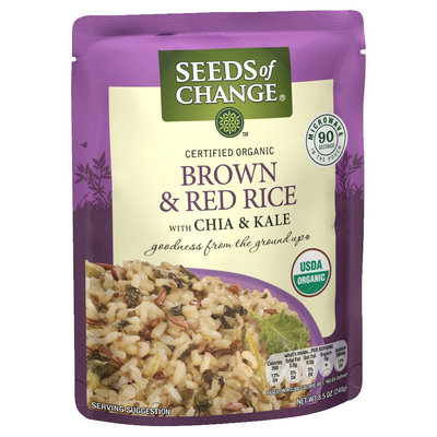 Seeds of Change Organic Brown and Red Rice with Chia and Kale 8.5oz