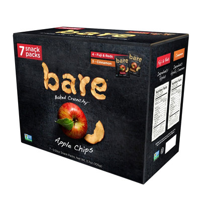 Bare Apple Chips, Fuji Red and Cinnamon Snack Pack 8ct