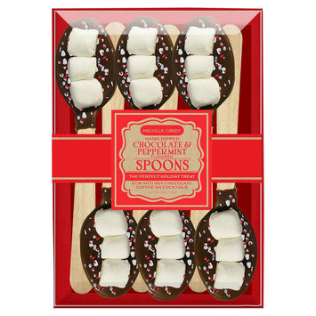 Chocolate Dipped Marshmallow, Dark Chocolate and Peppermint Spoons 6 Pack, 3 Count