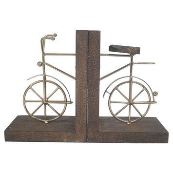 Book End - Bicycle - Threshold, Gold