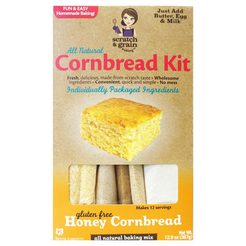 Scratch & Grain Baking Co. Scratch & Grain All Natural Gluten Free Honey Cornbread Kit - 12.9 oz