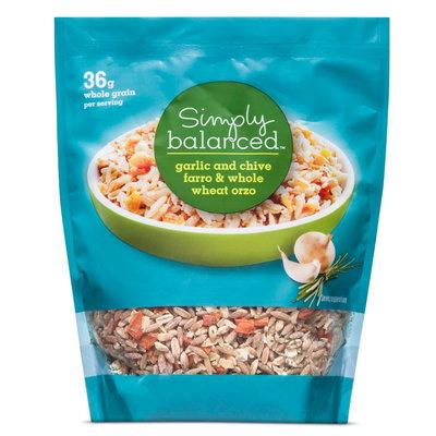 Garlic and Chive Farro & Whole Wheat Orzo 5.75 oz - Simply Balanced