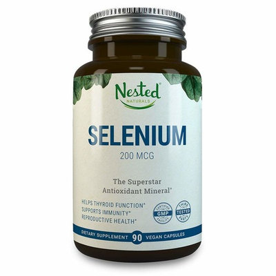 Selenium 200mcg | 90 Vegan Caps | Pure & Yeast Free Selenomethionine | Support Healthy Thyroid Function, Heart Health, Reproductive & Immune System | Essential Trace Mineral & Antioxidant Supplements