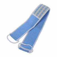 Terry Cloth Back Strap Bath Sponge Scrubber Blue or WhiteCP TS