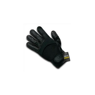 RapDom T22-PL-BLK-02 Airmesh-Digital Leather Glove - Black, Medium