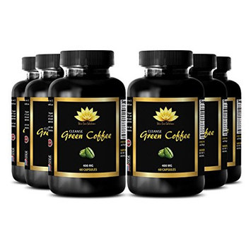 Immune system booster - NATURAL GREEN COFFEE BEAN EXTRACT CLEANSE 400 mg - Pumpkin seed supplement - 6 Bottle 360 Capsules