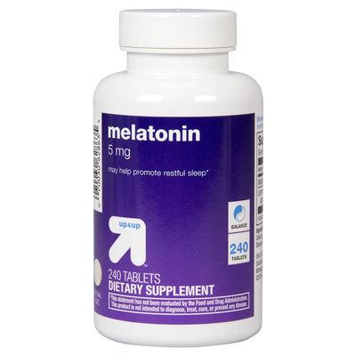 Melatonin 5 mg Tablets 240 Count - up & up