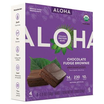 Aloha Organic Protein Bars Chocolate Fudge Brownie - 4ct, Peanut Butter Chocolate