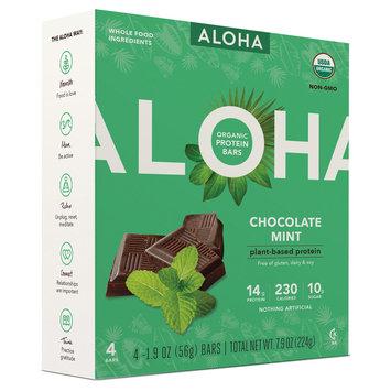 Aloha Organic Protein Bars Chocolate Mint - 4ct, Peanut Butter Coffee
