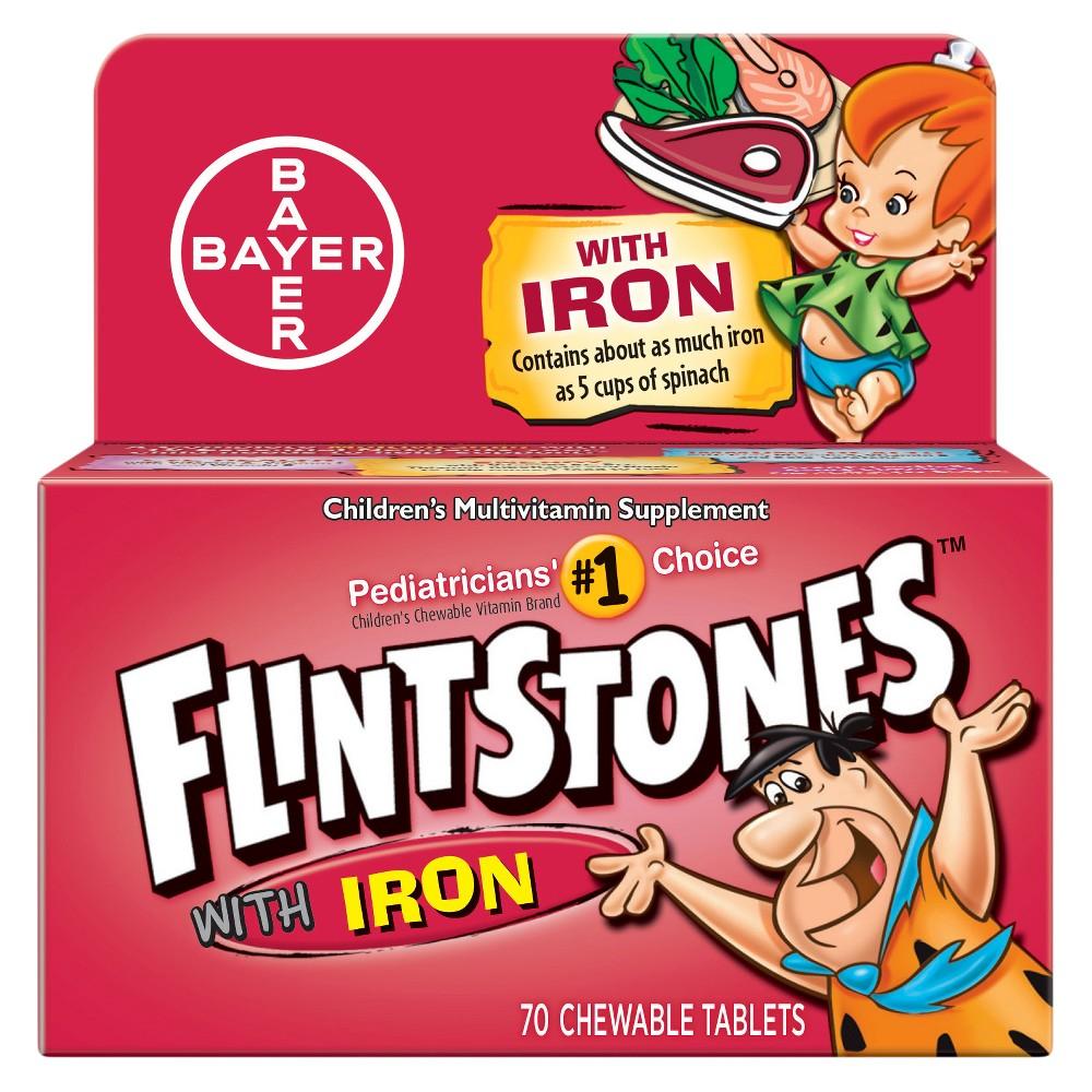 The Flintstones Flintstones Multivitamins Supplement with Iron Mixed Fruit Chewable - 70ct
