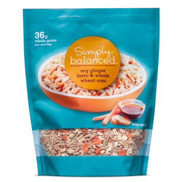 Soy Ginger Farro & Whole Wheat Orzo 5.75 oz - Simply Balanced
