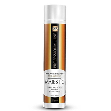Majestic Keratin Brazilian Hair Treatment Gold & Honey 10oz (300ml) Maximum Strength