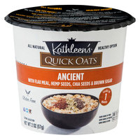 Kathleens Kathleen's Quick Oats With Flax Meal-Hemp Seeds-Chia Seeds & Brown Sugar Oats 2 oz