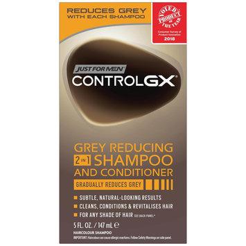 Grecian Formula Control GX Grey Reducing 2 in 1 Shampoo and Conditioner - 5.5 oz, Black
