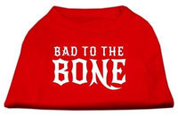 Ahi Bad to the Bone Dog Shirt Red XL (16)