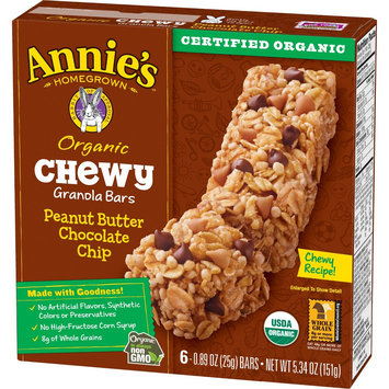 Annie's Chewy Granola Bar Peanut Butter Chocolate Chip 5.28 oz 6 ct