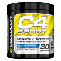 Cellucor C4 Sport Blue Raspberry Pre-Workout Powder - 30 Servings