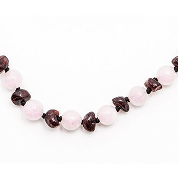 Healing Hazel + baltic bébé – 100% Certified Balticamber Pop Clasp Baby Necklace with Gemstones, Tender Rose Quartz, 11 inches (reduce drooling & teething pain)