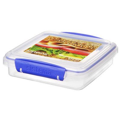 Sistema Klip It 15.2oz Sandwich Box, Clear
