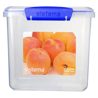 Sistema Klip It 64.2oz Rectangular Container, Clear