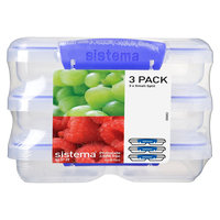 Sistema Klip It 3pk 11.8oz Containers, Clear
