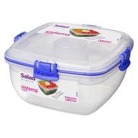 Sistema Salad To Go 37.2oz, Medium Clear