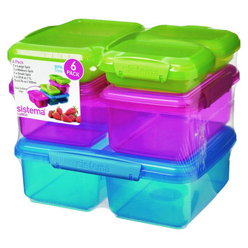 Sistema Klip It 6pk Color Containers, Multi-Colored