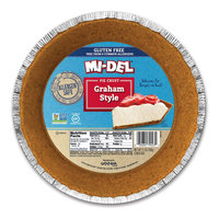 Midel Mi-Del Gluten Free Pie Crust Graham Style 6.3 Ounce (Pack of 12)