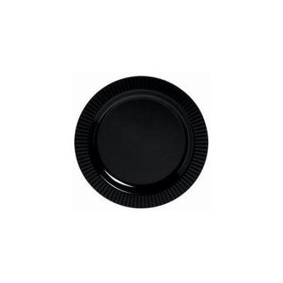 Amscan 209394 Black Premium Plastic Dessert Plates