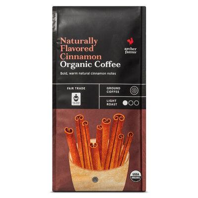 Naturally Flavored Cinnamon Organic Ground Coffee 10oz - Archer Farms