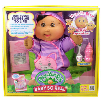 Cabbage Patch Kids 14 Baby So Real - African American with Brown Eyes and Kitty Fashion