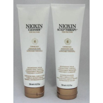NIOXIN System 4 Cleanser and Scalp Therapy 8.5 oz ea