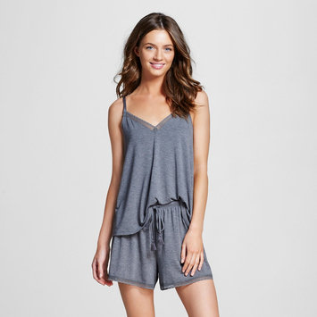 Gilligan & O'malley Women's Pajama Set Fluid Knit Shaded Blue/Gray L