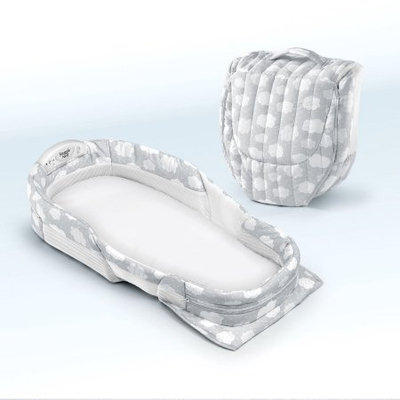 Baby Delight Snuggle Nest Surround XL Silver Clouds