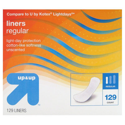 Panty Liners 129 Pk - up & up