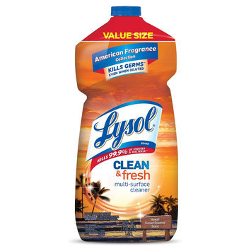 Lysol Clean & Fresh Multi-Surface Cleaner, Pourable Hawaii Sunset, 48 Oz