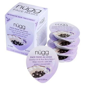 Beauty Ideas Group, Llc Nugg Destress Face Mask (5-pack) with Acai, Bilberry and Goji Berry Extracts