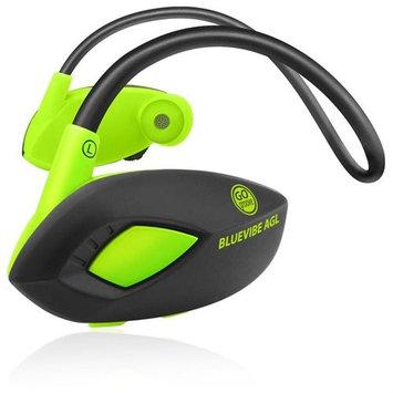 Accessory Power GOgroove BlueVIBE AGL GGBVAGL100BKEW Headset - Stereo - Black, Green - Wireless - Bluetooth - 33 ft - 32 Ohm - 20 Hz - 20 kHz - Behind-the-neck - Binaural - Circumaural