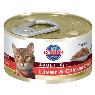 Hills Pet Nutrition Hills Science Plan Feline Adult Chicken & Liver Canned 85g x 24