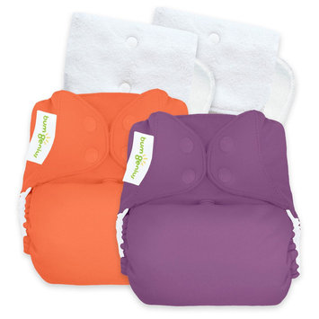Bum Genius BumGenius Reusable Diaper Set Viking Purple Orange Coral Opaque, Jelly/Kiss