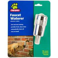 Top Paw® Dog Faucet Waterer, Silver